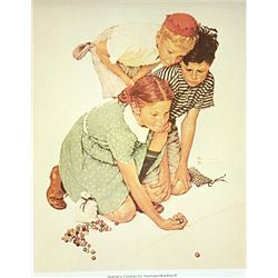 Marbles Champ by Norman Rockwell
