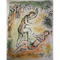Combat Between Ulysses and Irus by Chagall from the Odyssey Suite.