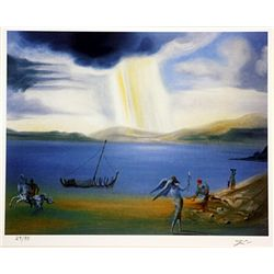 Salvador Dali Signed Limited Edition - Landscape near Port ligot