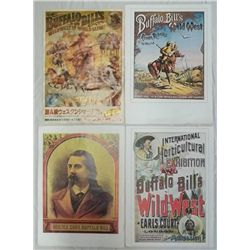 4 - 2-Sided Color Prints Buffalo Bill Shows & More
