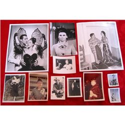 Lot of 11 – 1940/50/60's Movie Star Glossy Photo's