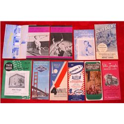 Lot of 11– 1930/40/50's Travel Guide Brochures
