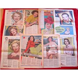 10 – 1940/50s Louella Parsons Hollywood Newspapers