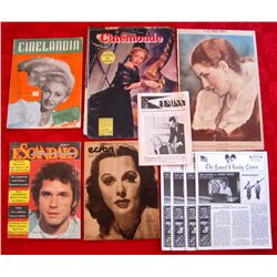 Lot of 10 Vintage Foreign Movie Magazines/Photo