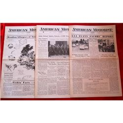 Lot of 3 – 1930's American Motorist Magazines