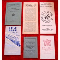 6 – 1920's Thru 1960's Travel/Misc. Booklets