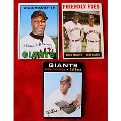 3 - 1960/70's Topps Willie McCovey Baseball Cards