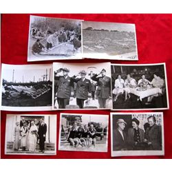 Lot of 8 Vintage Historical Newspaper Press Photos
