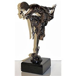 Danseus D'Ankara - Real, Fine Silver Sculpture by Chiparus