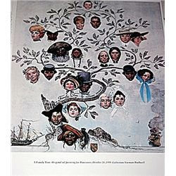 Norman Rockwell Lithograph-A Family Tree