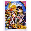 Hand Signed and Numbered Original Lithograph by Zamy Steynovitz - Teaching Torah