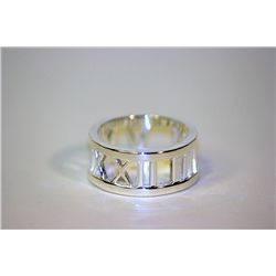 Unisex Fancy  Love  Tiffany Silver Ring