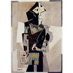 Limited Edition Picasso - Harlequin with Violin - Collection Domaine Picasso