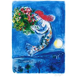 The Bay of Angels- Chagall - Limited Edition on Canvas