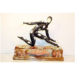 Leotard Dancer - Bronze and Ivory Sculpture by Chiparus
