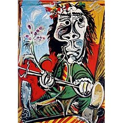 Limited Edition Picasso - Seated Man with A Sword and A Flower - Collection Domaine Picasso