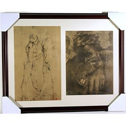Original Museum Lithographs Set- printed in the late 1800's to early 1900's
