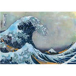 In The Well Of The Great Wave - Katsushika Hokusai - Limited Edition on Canvas