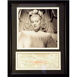Lucy   Giclee with Image of a real check
