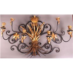 19th Century Gilded Gold Leaf Wheat stock Sconce.  etc.
