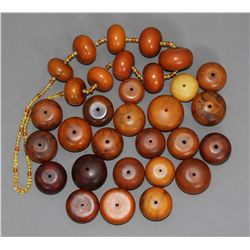 Copal Amber African Trade beads collection of 31 i etc.