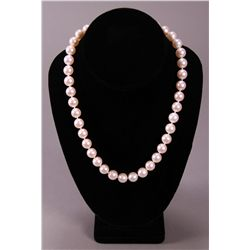 Estate Single Strand Pearl Necklace with Gold and  etc.
