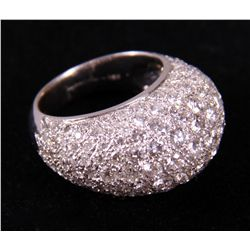 18k White Gold Dome Ring 10.5 grams.  Ladies ring  etc.