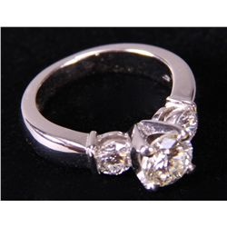 Platinum Diamond Ring (stamped Plat in shank)  The etc.