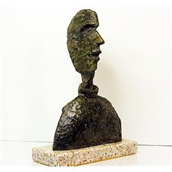 Alberto Giacometti  Original, limited Edition  Bronze - MALE HEAD