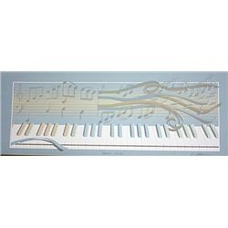 R. Adkins Hand Signed Relief Lithograph- Piano Keys