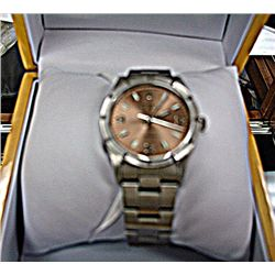 Gents Authentic Stainless Steel Copper Face Rolex Air King