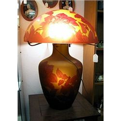 Galle Signed Autumn Table Lamp