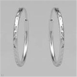 Sterling Silver Hoops Earrings  1.6g   25mm Diameter  New Comes with Gold Jewelry Pouch