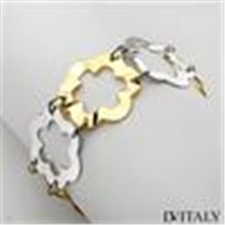 DV ITALY 14K/925 GP SILVER TWO TONE BRACELET MADE IN ITALY