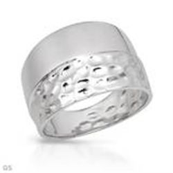 Wide Band  .925 Sterlimg Silver Ring Nice Detail  6.0g wt Size 8