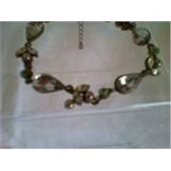 "Shades of Green Crystal  Bracelet 6 1/2"" Inches"