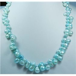 Double Strand Tahitian Blue mother of pearl necklace 1