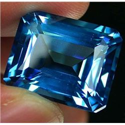 Beautifully cut 36.47 ct. Natural Emerald Cut Swiss Blu