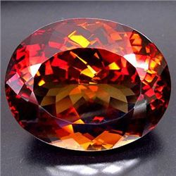 ENORMOUS 96.69ct UNHEATED Oval Facet IMPERIAL TOPAZ MWF