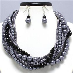 Chunky High Fashion Beaded Necklace