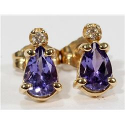 Priceless TANZANITE AND DIAMOND EARRINGS