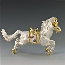 Graceful Carousel Horse Trinket Box