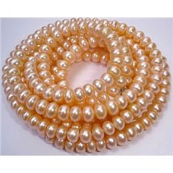 Impressive 8-9mm Natural Pink Tahitian Pearl Necklace