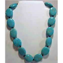 Ralph Lauren Designer Turquoise Chunky Necklace