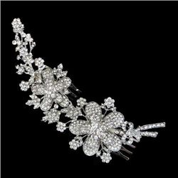 Gorgeous Swarovski Crystal Floral Hair Comb
