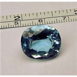 FLAWLESS 15.9 2cts. NATURAL OVAL BLUE TOPAZ MWF1763