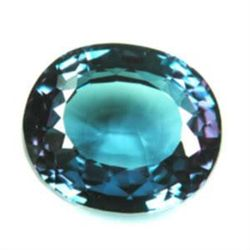 IMMACULATE 18.80 Carat Color Changing Oval Facet cut Al