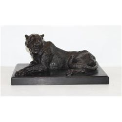 Magnificent Bronze Sculpture Panther