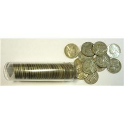 1 ROLL ( 40 ) AVERAGE CIRCULATED,  SILVER WAR NICKELS