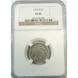 1924S Buffalo nickel NGC25